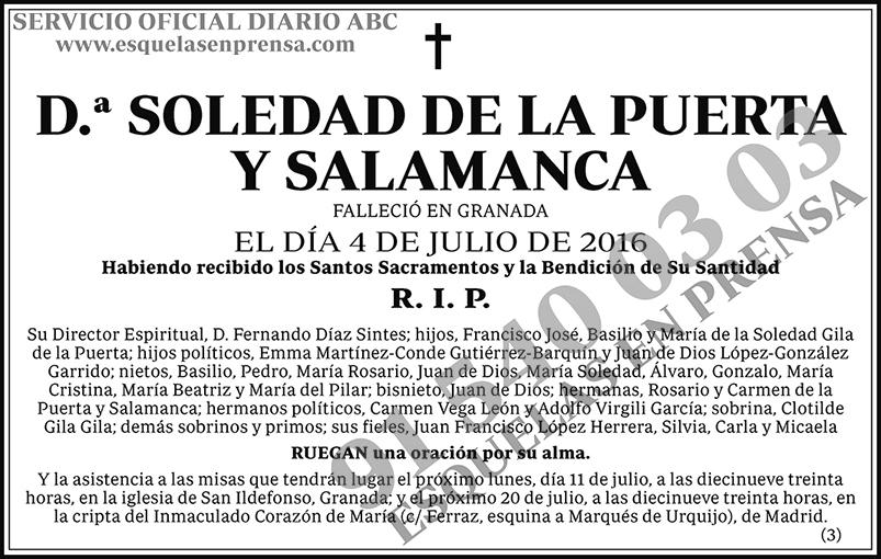 Soledad de la Puerta y Salamanca
